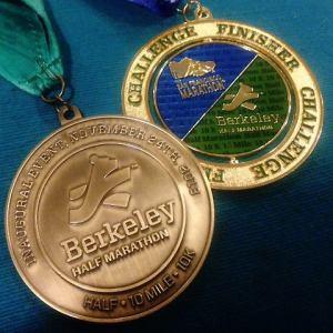 Berkeley half medal