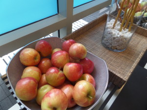 Fresh fruit for a post-ride snack