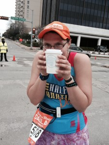 Running with a drink is so much better