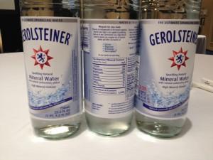 Gotta stay hydrated! I loved guzzling Gerolsteiner all weekend.
