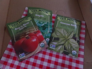 Organic seeds to grow organic ingredients