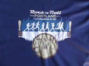 Since I neglected to snap a pic of the shoes, here's the event shirt