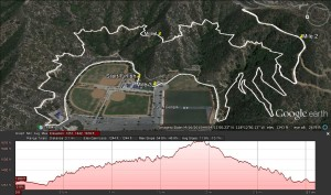 Foothill 5k Challenge course map