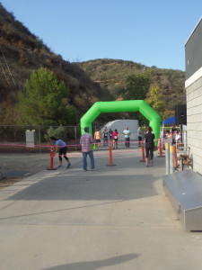View of the starting line, before the runners lined up