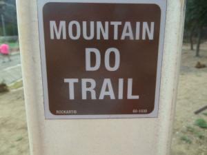 My new trail attitude
