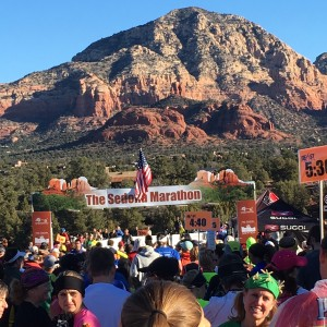 The starting line (see the lady dressed like a cactus)