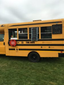 This is one short bus you WANT to be on--it's full of pizza!