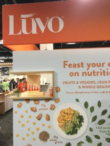 Luvo's Expo West booth displayed the goodness inside on the outside!