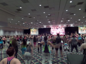 Zumba Instructor Network members at trainig