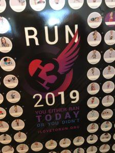 I heart running 2019 poster