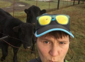 Bain selfies with a cow or two