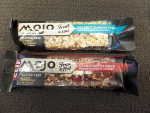 Two Clif Mojo bars