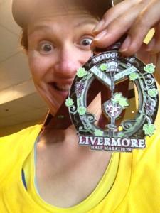 Livermore Half Marathon medal selfie