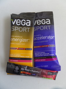 Three of the products in the Vega Sport line