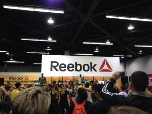 Sponsor Reebok had a workout floor