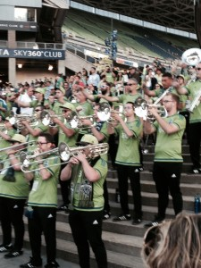 Naturally I have a picture of the Sounders band, but not the actual team