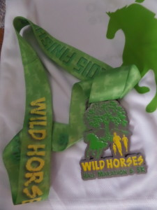 Race medal featuring a fancy ribbon