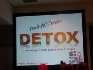 My favorite slide from BlogFest. Thanks, Melissa Burton!