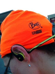 UV Buff, wrapped as a hat