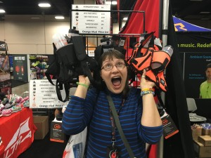 Orange Mud gear on sale at the Rock n Roll San Antonio Expo