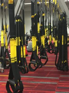 TRX straps ready for class
