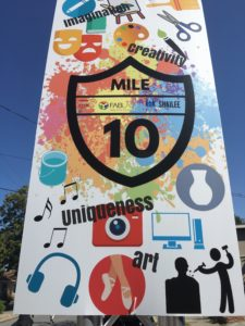 Mile 10 mile marker featuring art, music, photography, sculpture